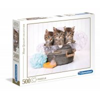 Puzzle 500 Kittens and Soap Clementoni